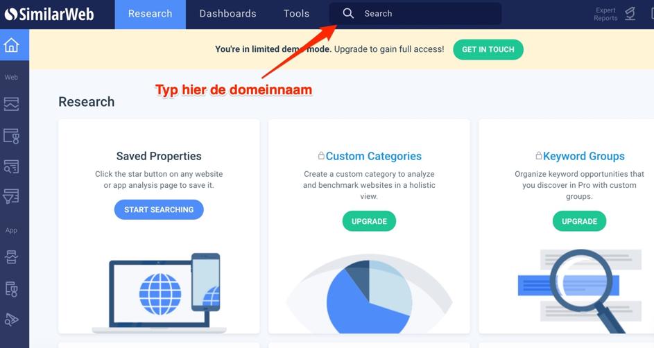 Similar Web - meer organische traffic naar je website